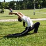 Yoga in den Bergen im Trentino