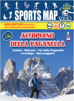 Hotel Cavallino shows the Map of sports in Trentino on the Paganella