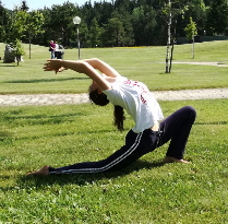 Yoga in the mountains in Trentino