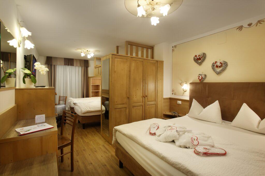 La camera Harmony di Hotel Cavallino ad Andalo