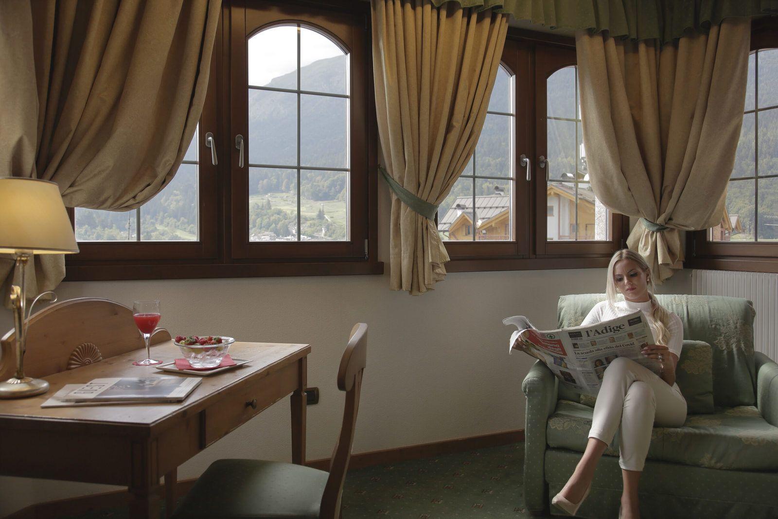 una delle camere del cavallino lovely hotel